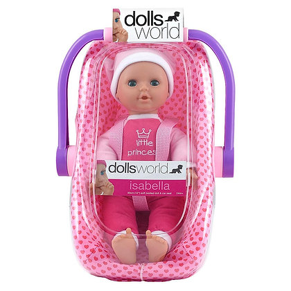 Dolls World Isabella - Doll in Travel Chair