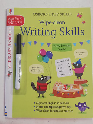Usborne Key Skills - Writing Skills - Wipe Clean Colouring Book