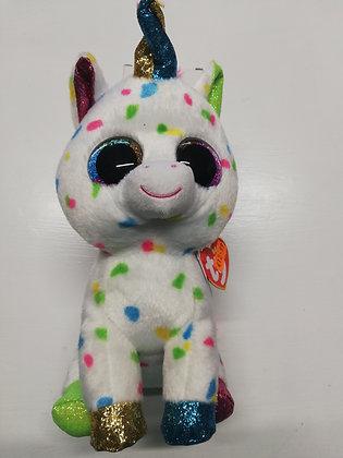"""Harmonie - Dotty Unicorn - 12"""" TY Beanie Boo"""
