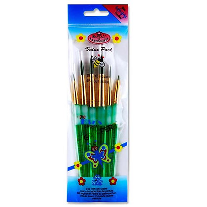 Paint Brush Set 6pc - Royal & Langnickel - Assorted Value Pack
