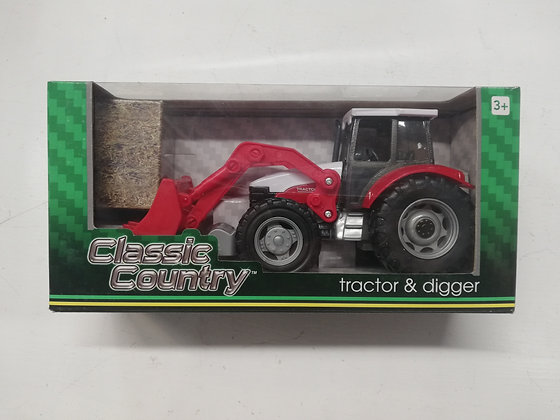 Classic Country Red Tractor and Digger