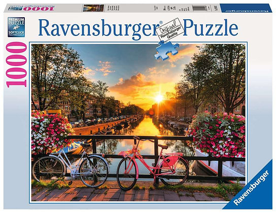 Bicycles in Amsterdam - 1000pc - Ravensburger 19606