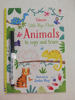 Usborne Little Wipe Clean Colouring Book - Animals to copy & trace