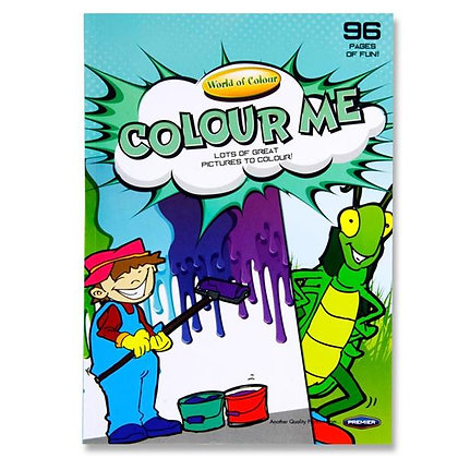 Colouring Book A4 Perforated 96pg