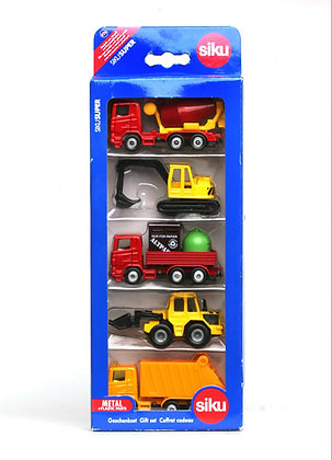 Siku Construction Vehicles 5pk Gift Set 1:87 Scale