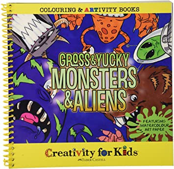 Faber Castell Artivity Book - Gross and Yucky Monsters and Aliens