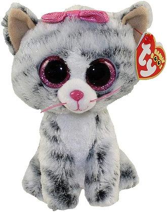 "Kiki - Grey Kitten - 6"" TY Beanie Boo"