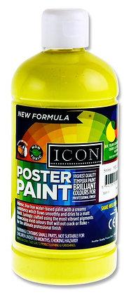 Icon Poster Paint 500ml Lemon Yellow