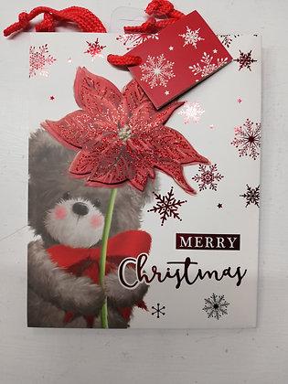 A5 Christmas Giftbag Portrait Red