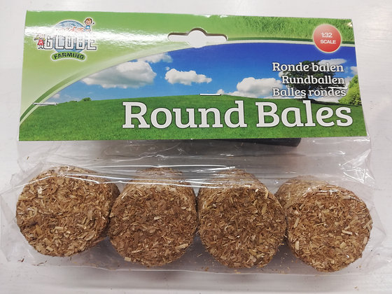 Round Bales 4pk  1:32 Scale
