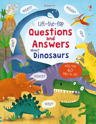 Lift-The-Flap Questions & Answers about Dinosaurs