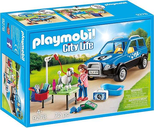 Playmobil City  - Mobile Dog Groomer - 9278