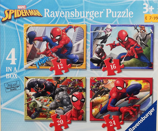 Spiderman - 4 in a Box - Ravensburger 6915