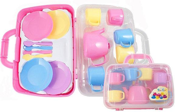 Tea Set Carry Case - Pastel