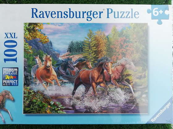 Horses in Water - 100pc