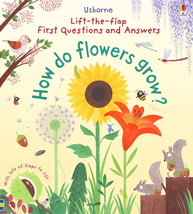 Usborne How Do Flowers Grow? Lift-The-Flap First Questions & Answers Book