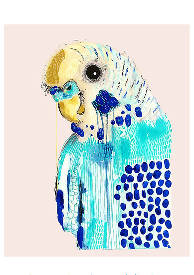 Grotti Lotti Card - Bluey in Blush