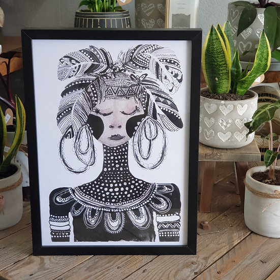 Framed Grotti Lotti Print - A3 Print