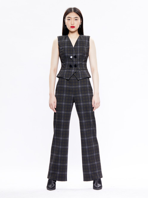 20d60e3167 Plaid Wide Leg Trousers