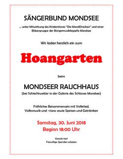 Plakat Hoangarten 2018