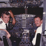 Captain jake sprouse and first officer E