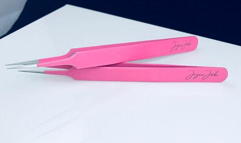 Joyce Jade Bubblegum Pink Tweezer Set