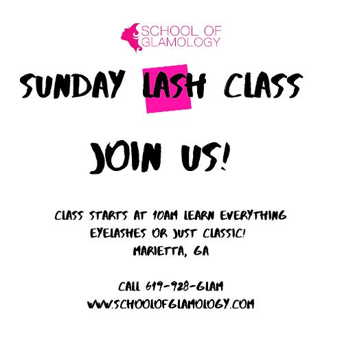 Sunday Lash Class Course Deposit