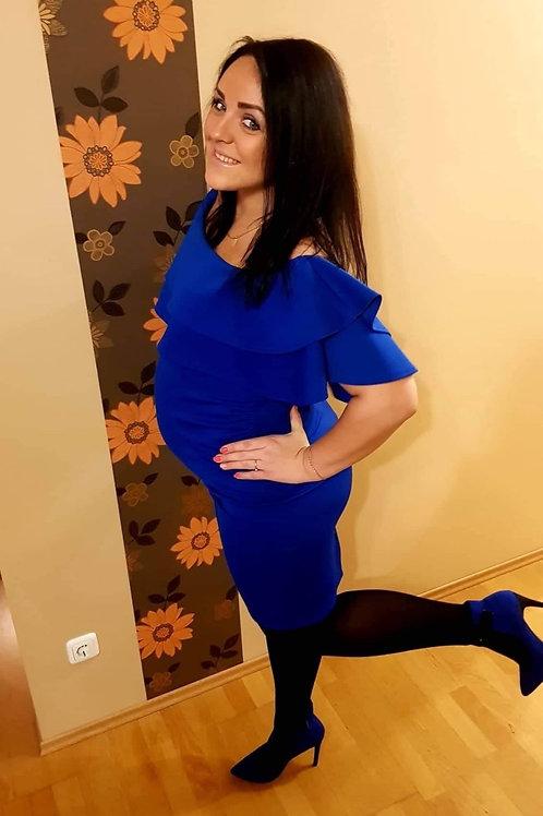 Sinine õlgupaljastav kleit
