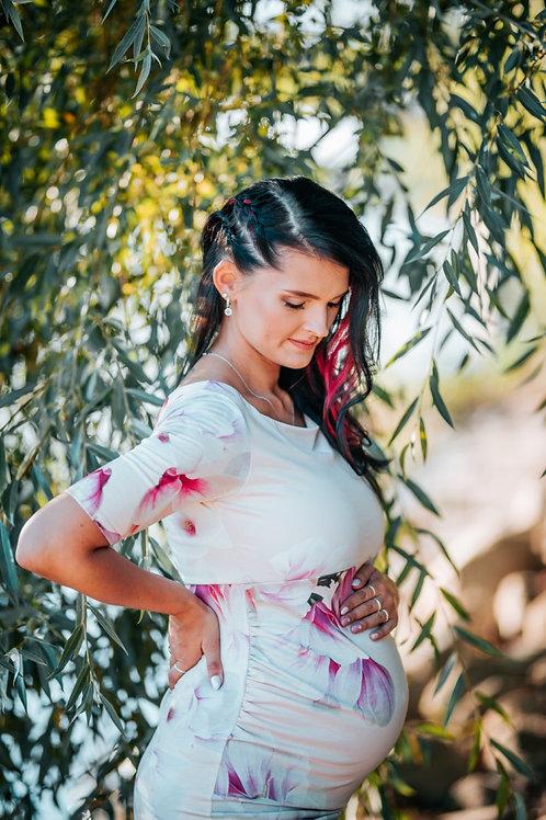 Heleroosa lilleline kleit