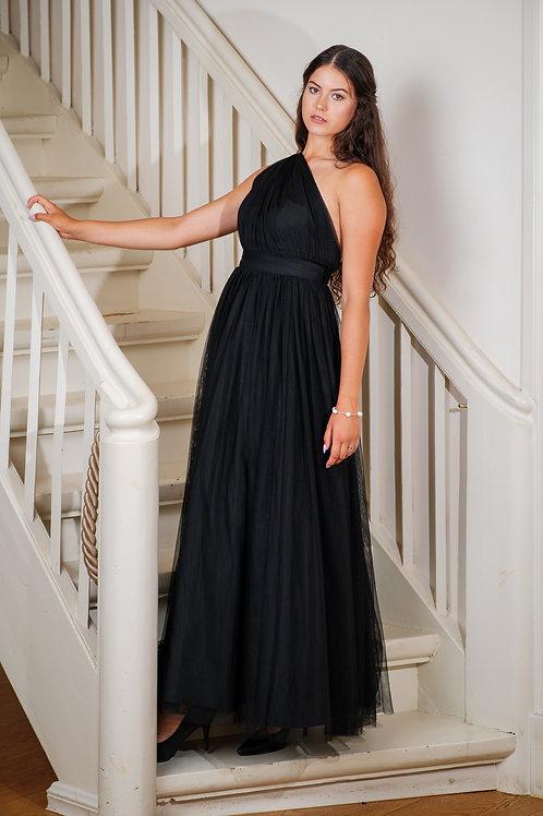 Must maani tüllist kleit