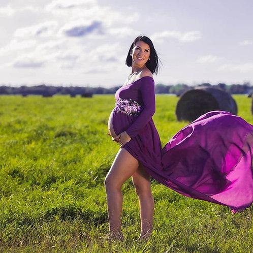 Lilla pildistamise kleit