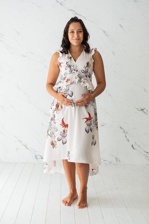 Valge lilleline kleit