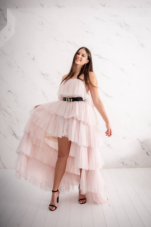 Heleroosa tüllist kleit