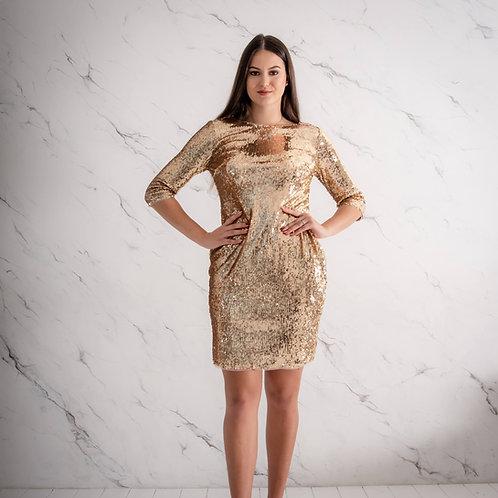 Üleni litritega kuldne kleit