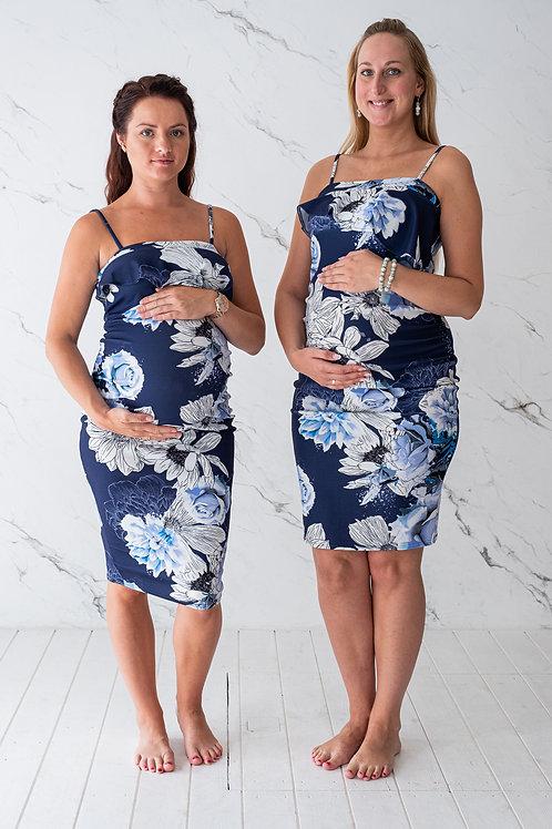Sinine lilledega kleit