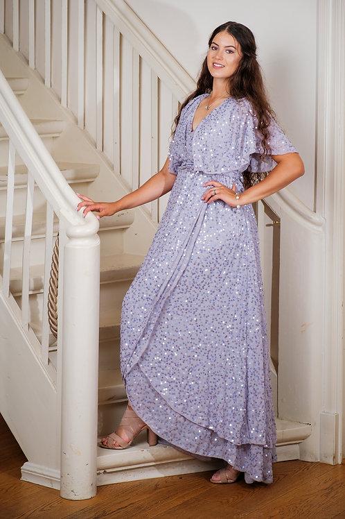 Maani üleni litritega helelilla kleit