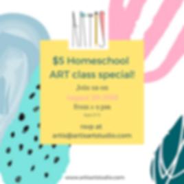 $5 Homeschool ARTclass!.png