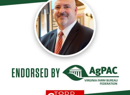BREAKING: Delegate Gilbert Endorsed by AgPAC