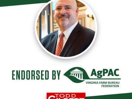 BREAKING: Delegate Gilbert Endorsed by AgPAC