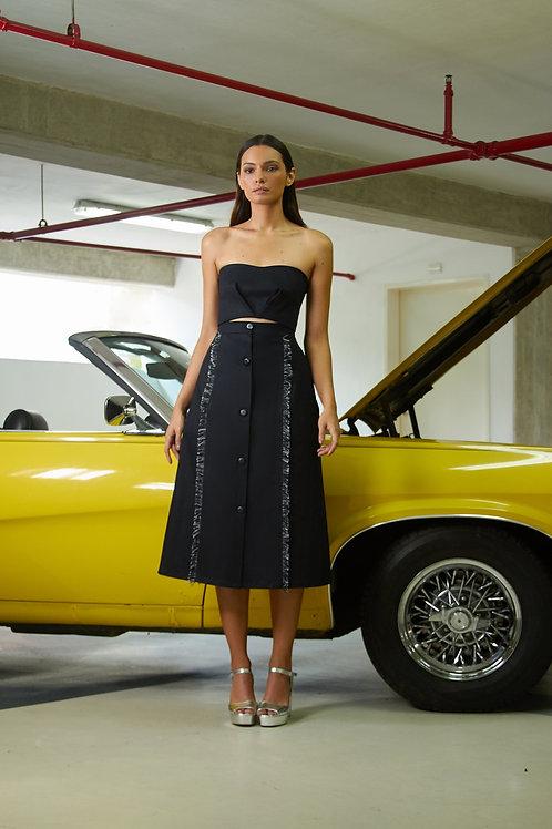 Jean & Tweed Skirt