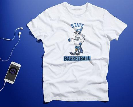 Soft Cotton Blue Jay State Basketball shirt
