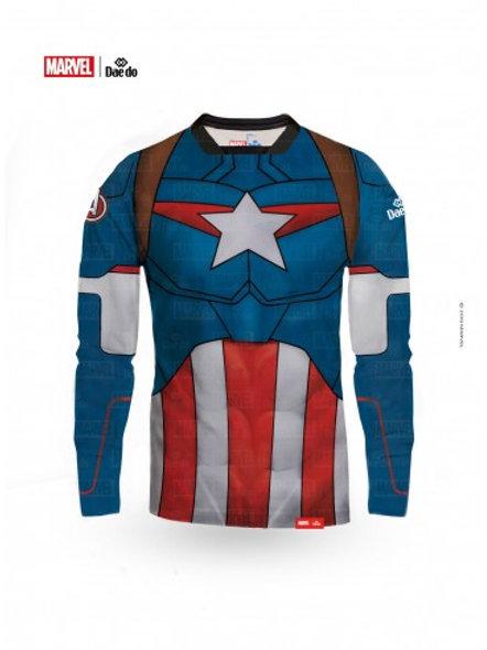 Captain America Full Print Long Sleeve