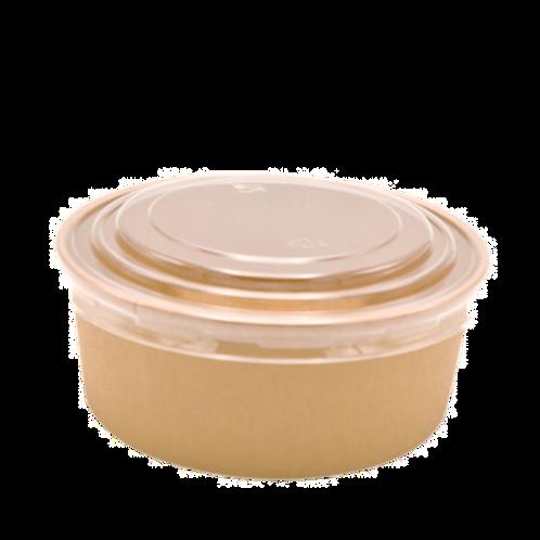 Kraft bowl deksel 38oz
