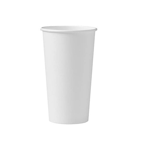 Witte koffiebeker 20oz/500ml