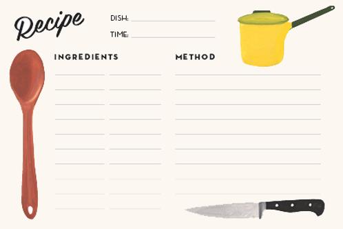 Recipe Index Cards