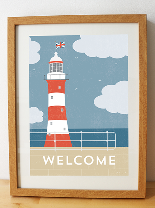 Lighthouse Welcome – Art Print