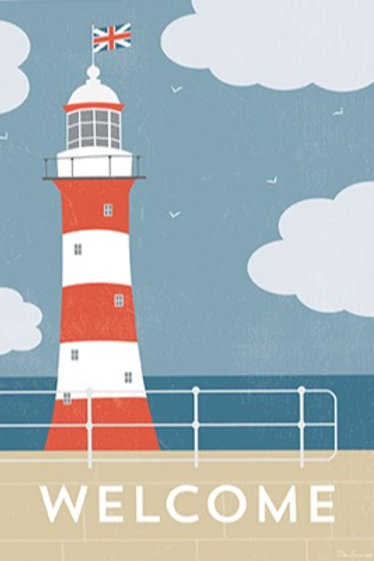 Lighthouse Welcome – Art Print