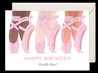 Twinkle Toes Happy Birthday