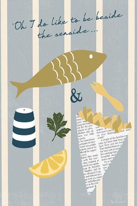 Seaside Fish 'n' Chips – Art Print