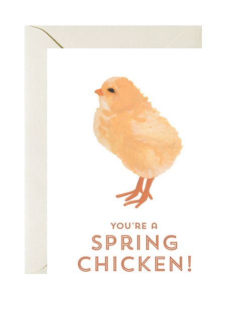 You're a Spring Chicken